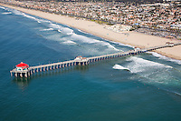 Aerial Stock Photo Of Huntington Beach Pier