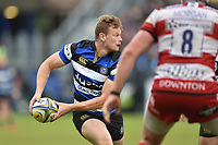 Chris Cook of Bath Rugby looks to pass the ball. Aviva Premiership match, between Bath Rugby and Gloucester Rugby on April 30, 2017 at the Recreation Ground in Bath, England. Photo by: Patrick Khachfe / Onside Images