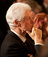 ***FILE PHOTO*** Bill Clinton Has Not Apologized To Monica Lewinsky And Claims Did The Right Thing Staying In Office.<br /> <br /> Former United States President Bill Clinton listens to President Shimon Peres of Israel speaks during a dinner in honor of Peres receiving the Presidential Medal of Freedom in the East Room of the White House in Washington, D.C. on Wednesday, June 13, 2012.<br /> CAP/MPI/RS<br /> &copy;RS/MPI/Capital Pictures