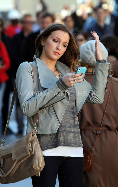 WWW.ACEPIXS.COM....October 11 2012, New York City....Actress Katie Cassidy on the set of the TV show 'Gossip Girl' on October 11 2012 in New York City......By Line: Zelig Shaul/ACE Pictures......ACE Pictures, Inc...tel: 646 769 0430..Email: info@acepixs.com..www.acepixs.com