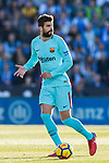 Gerard Pique Bernabeu of FC Barcelona in action during the La Liga 2017-18 match between CD Leganes vs FC Barcelona at Estadio Municipal Butarque on November 18 2017 in Leganes, Spain. Photo by Diego Gonzalez / Power Sport Images