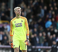 Huddersfield Town's Jonas Lossl<br /> <br /> Photographer Rich Linley/CameraSport<br /> <br /> The Premier League - Burnley v Huddersfield Town - Saturday 6th October 2018 - Turf Moor - Burnley<br /> <br /> World Copyright &copy; 2018 CameraSport. All rights reserved. 43 Linden Ave. Countesthorpe. Leicester. England. LE8 5PG - Tel: +44 (0) 116 277 4147 - admin@camerasport.com - www.camerasport.com