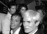 Calvin Klein Brooke Shields Steve Rubell Andy Warhol at Studio 54 1981<br /> Photo By Adam Scull/PHOTOlink.net