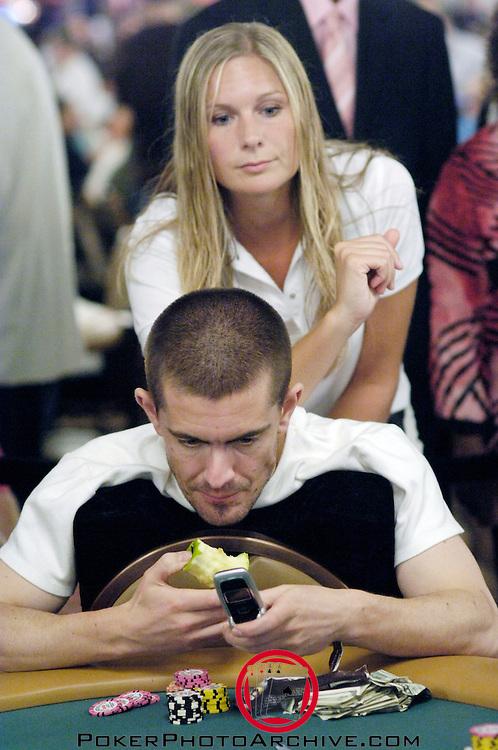 Gus Hansen gets a massage.