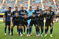 San Jose, CA - Saturday June 24, 2017: San Jose Earthquakes Starting Eleven during a Major League Soccer (MLS) match between the San Jose Earthquakes and Real Salt Lake at Avaya Stadium.
