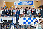 The St Mary's Senior Panel being presented with their All Ireland Medals by Jack O'Shea at the Clubs dinner dance in The Ring of Kerry hotel on Saturday night.