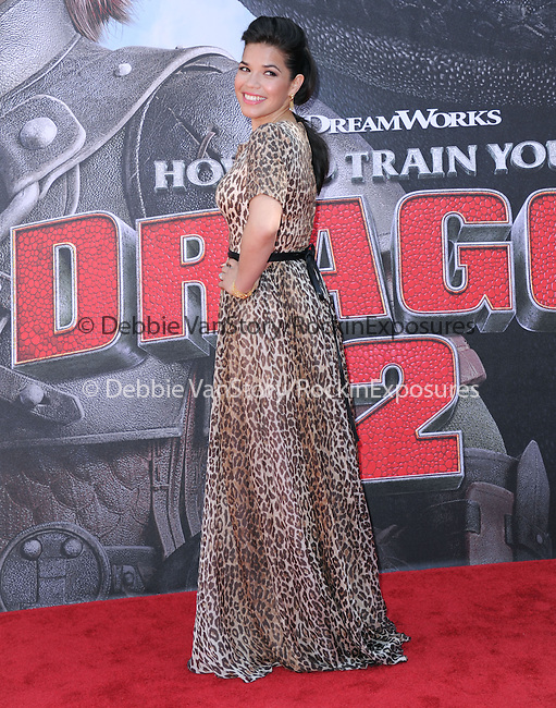 America Ferrera attends The Twentieth Century Fox's How To Train Your Dragon 2 Premiere at The Regency Village in Westwood, California on JUNE 08,2014                                                                               © 2014 Hollywood Press Agency