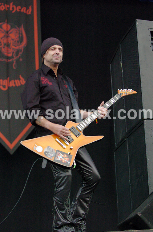 **ALL ROUND PICTURES FROM SOLARPIX.COM**.**WORLDWIDE SYNDICATION RIGHTS**.Artists perform at day 1 of the Download festival, Donnington Park, Nottinghamshire, UK. Friday 13th June 2008..This pic: Motorhead..JOB REF: 6652 SGD     DATE: 13_06_2008.**MUST CREDIT SOLARPIX.COM OR DOUBLE FEE WILL BE CHARGED* *UNDER NO CIRCUMSTANCES IS THIS IMAGE TO BE REPRODUCED FOR ANY ONLINE EDITION WITHOUT PRIOR PERMISSION*