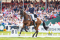 AUS-Christopher Burton (NOBILIS 18) INTERIM-5TH: DRESSAGE - Day 2: 2016 GBR-Mitsubishi Motors Badminton Horse Trials CCI4* (Friday 6 May) CREDIT: Libby Law COPYRIGHT: LIBBY LAW PHOTOGRAPHY