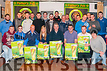 Tuborg Darts District League; Pictured to launch the Tuborg Darts District league in Parkers Bar, Kilflynn on Sunday evening last , starting on January 29th comprising of 18 teams in 3 groups and in teams of 5 with 2 subs were members of the participating bars.