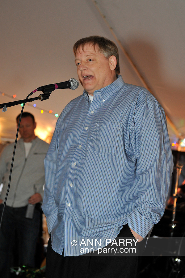Fund raiser for firefighter Ray Pfeifer on Saturday, March 31, 2012, at East Meadow Firefighters Benevolent Hall, New York, USA. Ray Pfeifer spoke on stage.