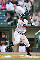 April 24, 2009:  First Baseman Juan Miranda (46) of the Scranton Wilkes-Barre Yankees, International League Class-AAA affiliate of the New York Yankees, during a game at the Frontier Field in Rochester, NY.  Photo by:  Mike Janes/Four Seam Images