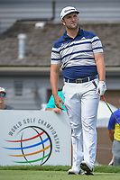 Jon Rahm (ESP) watches his tee shot on 17 during 1st round of the World Golf Championships - Bridgestone Invitational, at the Firestone Country Club, Akron, Ohio. 8/2/2018.<br /> Picture: Golffile | Ken Murray<br /> <br /> <br /> All photo usage must carry mandatory copyright credit (&copy; Golffile | Ken Murray)