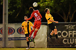 BRISBANE, AUSTRALIA - JUNE 23:  during the NPL Queensland Senior Mens Round 21 match between Olympic FC and Sunshine Coast Fire at Goodwin Park on June 23, 2019 in Brisbane, Australia. (Photo by Patrick Kearney)