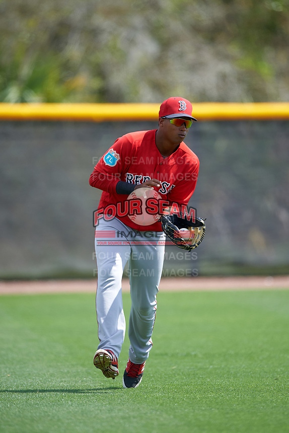 Boston Red Sox Juan Barriento (41) during a minor league Spring Training game against the Tampa Bay Rays on March 23, 2016 at Charlotte Sports Park in Port Charlotte, Florida.  (Mike Janes/Four Seam Images)