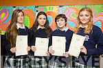 Presentation Secondary Tralee Graduations on Friday pictured l-r  Chelsea Flannery, Moira Hannafin, Alannah Phelan and Lucinda Hamilton