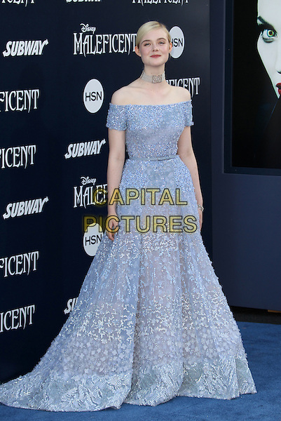 Hollywood, CA - May 28: Elle Fanning Attending World Premiere Of Disney's &quot;Maleficent&quot; At The El Capitan Theatre California on May 28, 2014.  <br /> CAP/MPI/RTNUPA<br /> &copy;RTNUPA/MediaPunch/Capital Pictures