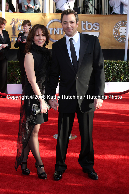 Jon Tenney & Guest. arriving at the Screen Actors Guild Awards, at the Shrine Auditorium in Los Angeles, CA on .January 25, 2009.©2008 Kathy Hutchins / Hutchins Photo..