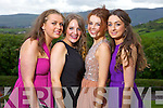 Pictured at the Gael Choláiste Chiarraí debs at Ballyroe Heights hotel on Monday evening were l-r: Aine Wlash, Katie O'Connell, Anne McCarthy and Mairead Walsh.
