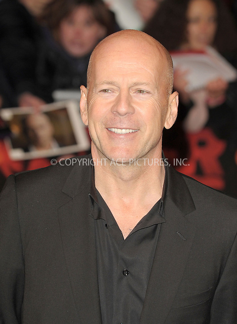 WWW.ACEPIXS.COM . . . . .  ..... . . . . US SALES ONLY . . . . .....October 19 2010, London....Bruce Willis at the UK Premiere of 'Red' at the Royal Festival Hall on October 19 2010 in London....Please byline: FAMOUS-ACE PICTURES... . . . .  ....Ace Pictures, Inc:  ..Tel: (212) 243-8787..e-mail: info@acepixs.com..web: http://www.acepixs.com