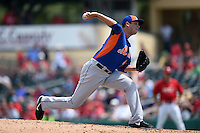 New York Mets pitcher Zach Thornton (46) during a Spring Training game against the St. Louis Cardinals on April 2, 2015 at Roger Dean Stadium in Jupiter, Florida.  The game ended in a 0-0 tie.  (Mike Janes/Four Seam Images)