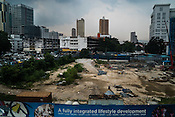 Construction site in downtown Kuala Lumpur.