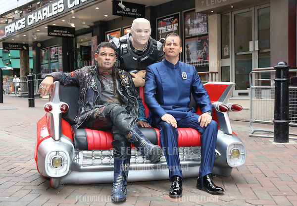 Craig Charles, Chris Barrie and Robert Llewellyn at the Red Dwarf X launch - photocall.London. 03/12/2012 Picture by: Henry Harris / Featureflash