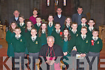 Loreto NS pupils who were confirmed in St Mary's Cathedral Killarney by Bishop Bill Murphy on Wednesday front row l-r: Conor Lucey, Donal Lucey, Emily Rose McAllen, Tristan O'Donoghue, Peter O'Sullivan. Middle row: Lorna Mulcahy, Kate Stack, Rachel McCarthy, Ora O'Donoghue, Daniel Lucey, David Culloty. Back row: Oisin O'Connor, Fergal Murphy, Aisling Doyle, Kate O'Connor, Gary O'Connor. Back row: Fr Pat Horgan, Mary O'Sullivan Principal, Fr Niall Howard and Fr Cieran O'Brien.
