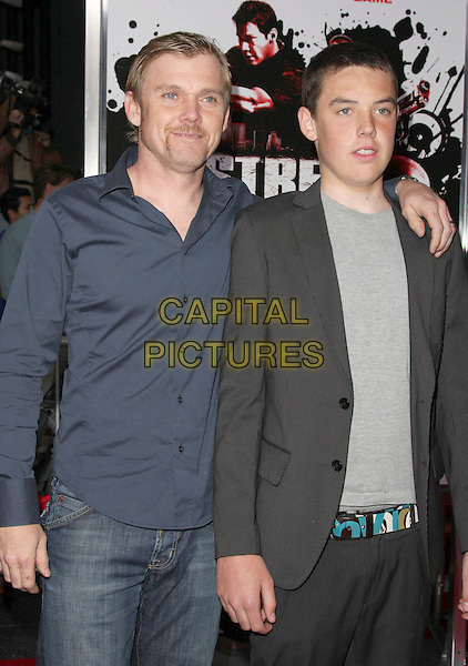 """RICK SCHROEDER & son HOLDEN.""""Street Kings"""" Los Angeles Premiere held at Grauman's Chinese Theatre, Hollywood, California, USA,.03 April 2008..half length schroder .CAP/ADM/`CH.©Charles Harris/Admedia/Capital PIctures"""
