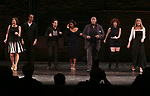 Karen Ziemba, Michael Xavier, Brandon Uranowitz, Bryonha Marie Parham, Chuck Cooper, Janet Dacal and Emily Skinner during the Broadway Opening Night performance Curtain Call for 'The Prince of Broadway' at the Samuel J. Friedman Theatre on August 24, 2017 in New York City.