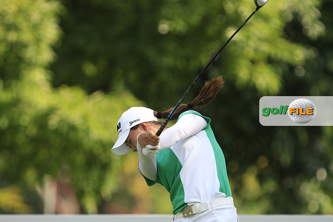 Minjee Lee (AUS) on the 9th tee during Round 3 of the HSBC Women's Champions at the Sentosa Golf Club, The Serapong Course in Singapore on Saturday 7th March 2015.<br /> Picture:  Thos Caffrey / www.golffile.ie