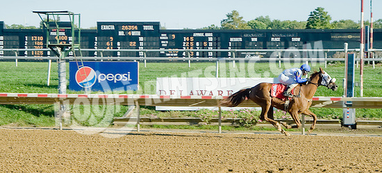 Nouveau Rich winning at Delaware Park on 9/24/12