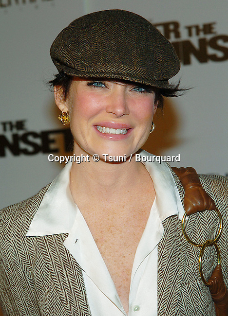 Lara Flynn Boyle  arriving at the After Sunser Premiere at the Chinese Theatre in Los Angeles. November 4, 2004.