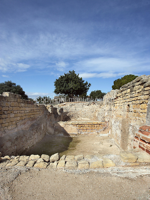The Frigidarium; Villa of El Munts; I Century AD, Tarragona (Tarraco, Hispania Citerior), Catalonia, Spain; one of the largest built on a hill overlooking the coast, only 12 km from Tarragona (Tarraco).