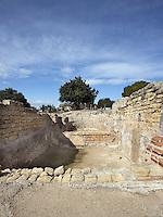 The Frigidarium; Villa of El Munts; I Century AD, Tarragona (Tarraco, Hispania Citerior), Catalonia, Spain; one of the largest built on a hill overlooking the coast, only 12 km from Tarragona (Tarraco).