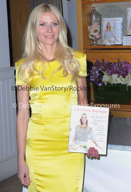 "Gwyneth Paltrow Signs Copies Of ""My Father's Daughter: Delicious, Easy Recipes Celebrating Family & Togetherness"" at Williams-Sonoma in Beverly Hills, California on April 21,2011                                                                               © 2011 Hollywood Press Agency"