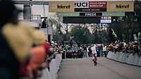Mathieu van der Poel (NED/Beobank-Corendon) trashing the competition from the start and leading the race supremely from start to finish, winning once again<br /> <br /> Elite Men's race<br /> <br /> UCI cyclocross World Cup Koksijde / Belgium 2017