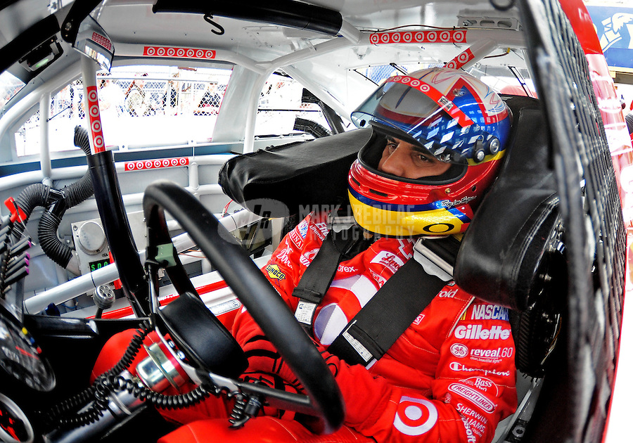 Nov. 14, 2009; Avondale, AZ, USA; NASCAR Sprint Cup Series driver Juan Pablo Montoya during practice for the Checker O'Reilly Auto Parts 500 at Phoenix International Raceway. Mandatory Credit: Mark J. Rebilas-