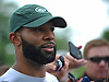 Matt Forté, New York Jets running back, speaks with the media on the day players reported to training camp at the Atlantic Health Jets Training Center in Florham Park, NJ on Friday, July 28, 2017.