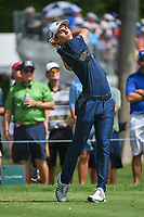 Joaquin Niemann (CHL) watches his tee shot on 3 during round 2 of the 2019 Charles Schwab Challenge, Colonial Country Club, Ft. Worth, Texas,  USA. 5/24/2019.<br /> Picture: Golffile   Ken Murray<br /> <br /> All photo usage must carry mandatory copyright credit (© Golffile   Ken Murray)