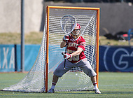 Washington, DC - March 31, 2018: Denver Pioneers Josh Matte (55) in action during game between Denver and Georgetown at  Cooper Field in Washington, DC.   (Photo by Elliott Brown/Media Images International)