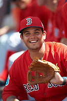 Boston Red Sox Alixon Suarez (25) during a minor league Spring Training game against the Tampa Bay Rays on March 23, 2016 at Charlotte Sports Park in Port Charlotte, Florida.  (Mike Janes/Four Seam Images)
