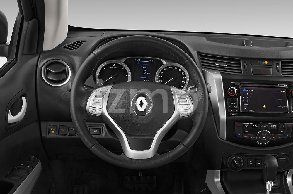Car pictures of steering wheel view of a 2018 Renault Alaskan Denali 4 Door Pick Up