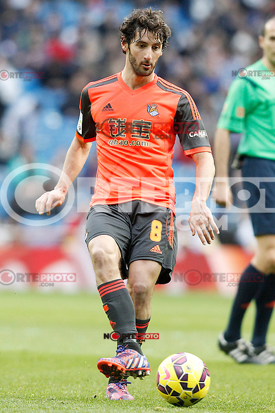 Real Sociedad's Esteban Granero during La Liga match.January 31,2015. (ALTERPHOTOS/Acero) /NortePhoto<br />