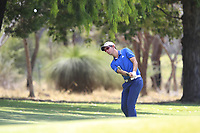 Lucas Herbert (AUS) in action on the 1st during Round 1 of the ISPS Handa World Super 6 Perth at Lake Karrinyup Country Club on the Thursday 8th February 2018.<br /> Picture:  Thos Caffrey / www.golffile.ie<br /> <br /> All photo usage must carry mandatory copyright credit (&copy; Golffile | Thos Caffrey)