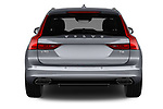 Straight rear view of a 2017 Volvo V90 Inscription 5 Door Wagon stock images