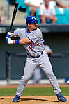 11 March 2006: Chris Truby, infielder for the Los Angeles Dodgers, at bat during a Spring Training game against the Washington Nationals. The Nationals defeated the Dodgers 2-1 in 10 innings at Space Coast Stadium, in Viera, Florida...Mandatory Photo Credit: Ed Wolfstein.