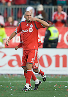 26 April 2009:  Toronto FC forward Danny Dichio #9 blows a kiss to the crowd after scoring the games only goal during an MLS game at BMO Field between Kansas City Wizards and Toronto FC.Toronto FC won 1-0. .