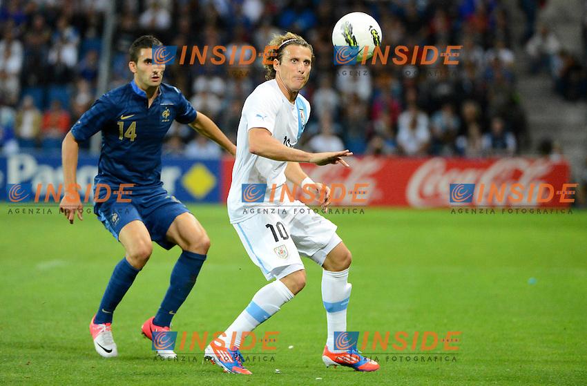 Diego Forlan (Uruguay) .Le Havre 15/8/2012.Calcio Football 2012/2013.Amichevole Francia Uruguay.Foto Insidefoto / Christian Liewig / Fep / Panoramic.Italy Only