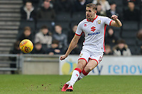 Scott Wootton of MK Dons during the Sky Bet League 1 match between MK Dons and AFC Wimbledon at stadium:mk, Milton Keynes, England on 13 January 2018. Photo by David Horn.